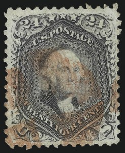 Sale Number 1019, Lot Number 411, 1861-66 Issue (Scott 63TC-78)24c Lilac (78), 24c Lilac (78)
