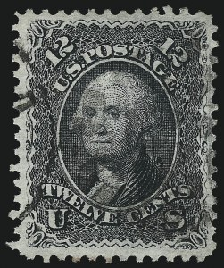 Sale Number 1019, Lot Number 418, 1867-68 Grilled Issue (Scott 83-101)12c Black, E. Grill (90), 12c Black, E. Grill (90)