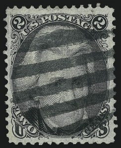 Sale Number 1019, Lot Number 420, 1867-68 Grilled Issue (Scott 83-101)2c Black, F. Grill (93), 2c Black, F. Grill (93)