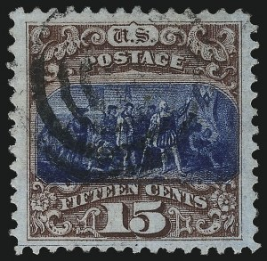 Sale Number 1019, Lot Number 456, 12c-90c 1869 Pictorial Issue (Scott 117-122)15c Brown & Blue, Ty. I (118), 15c Brown & Blue, Ty. I (118)
