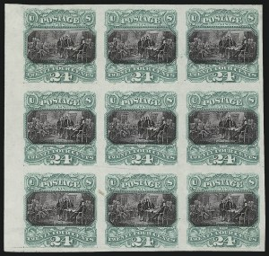 Sale Number 1019, Lot Number 463, 12c-90c 1869 Pictorial Issue (Scott 117-122)24c Green & Violet, Plate Proof on India (120P3), 24c Green & Violet, Plate Proof on India (120P3)