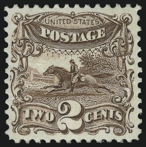 Sale Number 1019, Lot Number 474, 1875 Re-Issue of 1869 Pictorial Issue (Scott 124-132)2c Brown, Re-Issue (124), 2c Brown, Re-Issue (124)