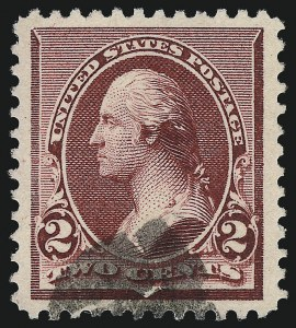 Sale Number 1019, Lot Number 532, 1890-93 Issue (Scott 219D-228)2c Lake (219D), 2c Lake (219D)