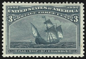 Sale Number 1019, Lot Number 541, 1c-50c 1893 Columbian Issue (Scott 230-240)3c Columbian (232), 3c Columbian (232)