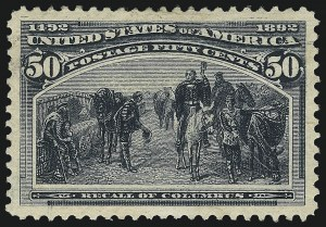 Sale Number 1019, Lot Number 554, 1c-50c 1893 Columbian Issue (Scott 230-240)50c Columbian (240), 50c Columbian (240)