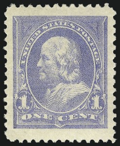 Sale Number 1019, Lot Number 578, 1894 Unwatermarked Bureau Issue (Scott 246-263)1c Ultramarine (246), 1c Ultramarine (246)