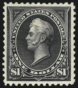 Sale Number 1019, Lot Number 588, 1894 Unwatermarked Bureau Issue (Scott 246-263)$1.00 Black, Ty. II (261A), $1.00 Black, Ty. II (261A)