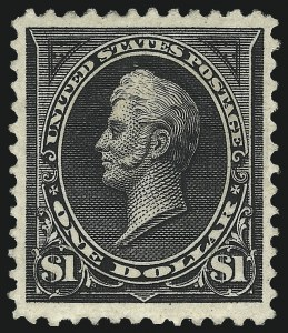 Sale Number 1019, Lot Number 589, 1894 Unwatermarked Bureau Issue (Scott 246-263)$1.00 Black, Ty. II (261A), $1.00 Black, Ty. II (261A)