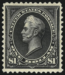 Sale Number 1019, Lot Number 590, 1894 Unwatermarked Bureau Issue (Scott 246-263)$1.00 Black, Ty. II (261A), $1.00 Black, Ty. II (261A)