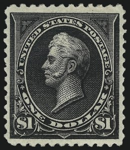 Sale Number 1019, Lot Number 591, 1894 Unwatermarked Bureau Issue (Scott 246-263)$1.00 Black, Ty. II (261A), $1.00 Black, Ty. II (261A)