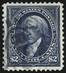 Sale Number 1019, Lot Number 592, 1894 Unwatermarked Bureau Issue (Scott 246-263)$2.00 Bright Blue (262), $2.00 Bright Blue (262)