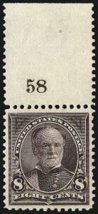 Sale Number 1019, Lot Number 601, 1895-97 Watermarked Bureau Issues (Scott 266-283)8c Violet Brown (272), 8c Violet Brown (272)