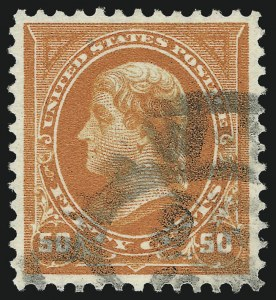 Sale Number 1019, Lot Number 604, 1895-97 Watermarked Bureau Issues (Scott 266-283)50c Red Orange (275a), 50c Red Orange (275a)