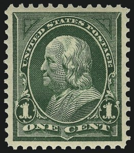 Sale Number 1019, Lot Number 609, 1895-97 Watermarked Bureau Issues (Scott 266-283)1c Deep Green (279), 1c Deep Green (279)