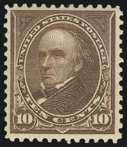 Sale Number 1019, Lot Number 615, 1895-97 Watermarked Bureau Issues (Scott 266-283)10c Brown, Ty. I (282C), 10c Brown, Ty. I (282C)