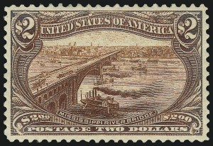 Sale Number 1019, Lot Number 650, $1.00-$2.00 1898 Trans-Mississippi Issue (Scott 292-293)$2.00 Trans-Mississippi (293), $2.00 Trans-Mississippi (293)