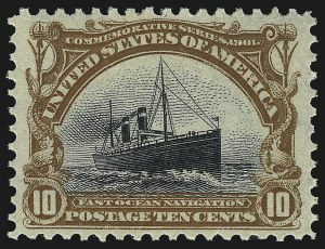 Sale Number 1019, Lot Number 657, 1901 Pan-American Issue (Scott 294-299)1c-10c Pan-American (294-295, 297-299), 1c-10c Pan-American (294-295, 297-299)