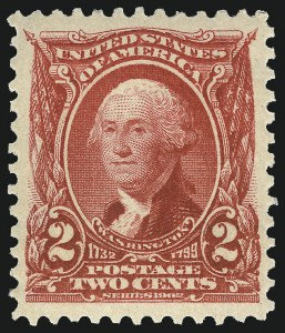 Sale Number 1019, Lot Number 672, 1902-08 Issues (Scott 300-310)2c Carmine (301), 2c Carmine (301)