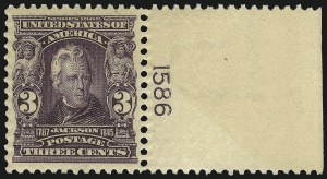 Sale Number 1019, Lot Number 674, 1902-08 Issues (Scott 300-310)3c Bright Violet (302), 3c Bright Violet (302)