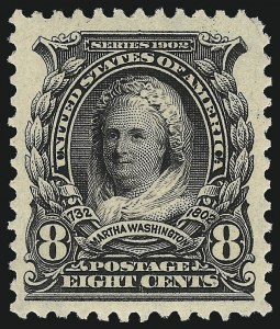 Sale Number 1019, Lot Number 678, 1902-08 Issues (Scott 300-310)8c Violet Black (306), 8c Violet Black (306)