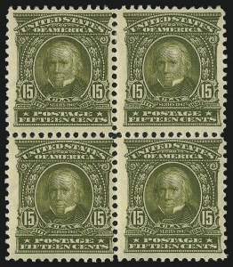 Sale Number 1019, Lot Number 685, 1902-08 Issues (Scott 300-310)15c Olive Green (309), 15c Olive Green (309)