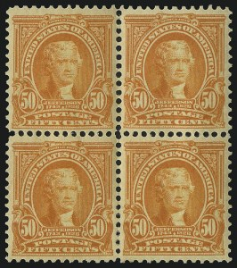 Sale Number 1019, Lot Number 687, 1902-08 Issues (Scott 300-310)50c Orange (310), 50c Orange (310)