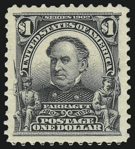 Sale Number 1019, Lot Number 688, 1902-08 Issues (Scott 311-320c)$1.00 Black (311), $1.00 Black (311)