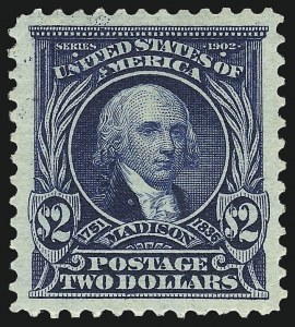 Sale Number 1019, Lot Number 694, 1902-08 Issues (Scott 311-320c)$2.00 Dark Blue (312), $2.00 Dark Blue (312)