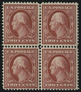 Sale Number 1019, Lot Number 743, 1909 Washington-Franklin Bluish Paper (Scott 357-366, 369)1c Green, 2c Carmine, Bluish (357-358), 1c Green, 2c Carmine, Bluish (357-358)