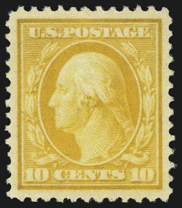 Sale Number 1019, Lot Number 759, 1909-12 Washington-Franklin Issues (Scott 375b-396)10c Yellow (381), 10c Yellow (381)