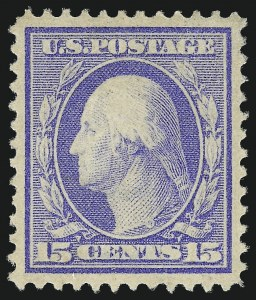 Sale Number 1019, Lot Number 761, 1909-12 Washington-Franklin Issues (Scott 375b-396)15c Pale Ultramarine (382), 15c Pale Ultramarine (382)