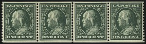 Sale Number 1019, Lot Number 766, 1909-12 Washington-Franklin Issues (Scott 375b-396)1c Green, Coil (387), 1c Green, Coil (387)
