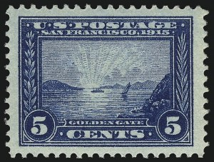 Sale Number 1019, Lot Number 777, 1913 Panama Pacific Issue (Scott 397-404)5c Panama-Pacific (399), 5c Panama-Pacific (399)