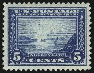 Sale Number 1019, Lot Number 779, 1913 Panama Pacific Issue (Scott 397-404)5c Panama-Pacific (399), 5c Panama-Pacific (399)