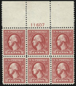 Sale Number 1019, Lot Number 881, 1918-22 Washington-Franklin Issues, Pilgrim Issue (Scott 525-549)2c Carmine, Ty. VI (528A), 2c Carmine, Ty. VI (528A)