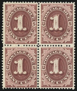 Sale Number 1019, Lot Number 950, Postage Due (Scott J2-J78a)1c Bright Claret (J22), 1c Bright Claret (J22)