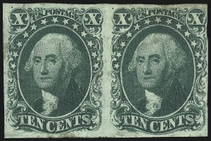 Sale Number 1021, Lot Number 141, 10c-12c 1851-56 Issue (Scott 13-17a)10c Green, Ty. II-IV (14-16), 10c Green, Ty. II-IV (14-16)