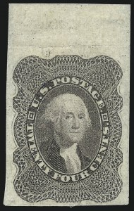 Sale Number 1021, Lot Number 191, 12c-90c 1857-60 Issue (Scott 36-39)24c Lilac, Imperforate (37c), 24c Lilac, Imperforate (37c)