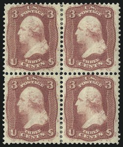 Sale Number 1021, Lot Number 207, 1861 Issue First Colors and First Designs (Scott 55-62B)3c Brown Rose, First Design (56), 3c Brown Rose, First Design (56)