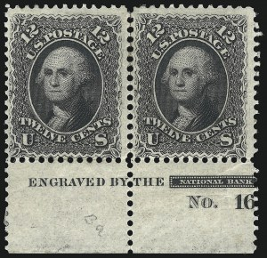 Sale Number 1021, Lot Number 216, 1861-66 Issue (Scott 63-72)12c Black (69), 12c Black (69)