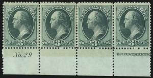 Sale Number 1021, Lot Number 351, 1870-71 National Bank Note Co. Issue (Scott 146-155)3c Green (147), 3c Green (147)
