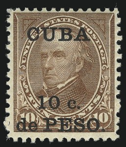 Sale Number 1021, Lot Number 545, United States PossessionsCUBA, 1900, 10c on 10c Brown, Ty. II (226A), CUBA, 1900, 10c on 10c Brown, Ty. II (226A)