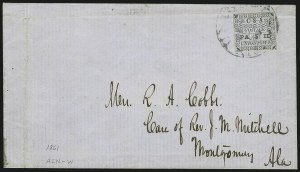 Sale Number 1022, Lot Number 1119, Uniontown, AlabamaUniontown Ala., 5c Green on Gray Blue (86X3), Uniontown Ala., 5c Green on Gray Blue (86X3)