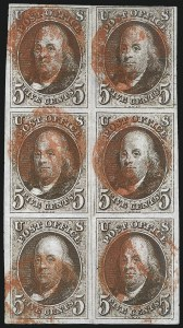 Sale Number 1023, Lot Number 2038, Used Multiples5c Red Brown (1), 5c Red Brown (1)