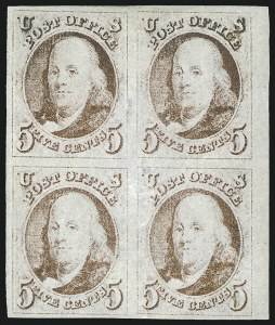 Sale Number 1023, Lot Number 2039, Used Multiples5c Red Brown (1), 5c Red Brown (1)