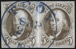 Sale Number 1023, Lot Number 2044, Used Multiples5c Red Brown (1), 5c Red Brown (1)