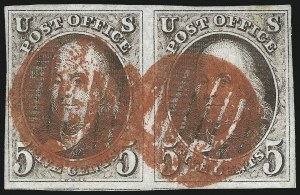 Sale Number 1023, Lot Number 2045, Used Multiples5c Red Brown (1), 5c Red Brown (1)