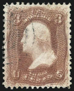 Sale Number 1024, Lot Number 107, 3c-5c 1861-66 Issue (Scott 64-67)3c Rose, Double Impression (65f), 3c Rose, Double Impression (65f)
