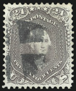 Sale Number 1024, Lot Number 116, 10c-90c 1861-66 Issue (Scott 68-72)24c Brown Lilac (70a), 24c Brown Lilac (70a)