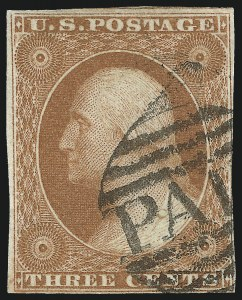 Sale Number 1024, Lot Number 32, 3c 1851-56 Issue (Scott 10-11A)3c Orange Brown, Ty. I, Part India Paper (10 var), 3c Orange Brown, Ty. I, Part India Paper (10 var)